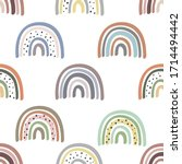 seamless pattern with pastel...   Shutterstock .eps vector #1714494442