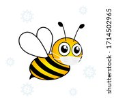 bee cut cartoon wearing in...   Shutterstock .eps vector #1714502965