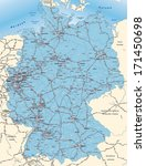 map of germany with postcodes... | Shutterstock . vector #171450698