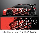 rally car decal graphic wrap... | Shutterstock .eps vector #1714514695