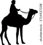 Camel Rider Flat Vector Image...