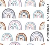 seamless pattern with pastel... | Shutterstock .eps vector #1714530235