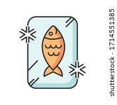 frozen food rgb color icon....   Shutterstock .eps vector #1714551385