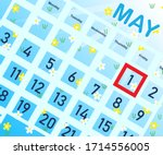 Calendar With Highlighted May 1 ...