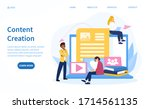 website content creation...   Shutterstock .eps vector #1714561135