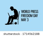 world press freedom day vector. ... | Shutterstock .eps vector #1714562188