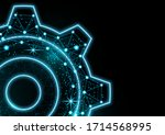 glowing gear icon with glare... | Shutterstock .eps vector #1714568995