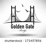 golden gate bridge typographic... | Shutterstock .eps vector #171457856