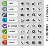 white web design buttons set.... | Shutterstock .eps vector #171460292