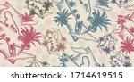 surf. seamless pattern. packing ... | Shutterstock .eps vector #1714619515