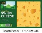 vector swiss cheese packaging...   Shutterstock .eps vector #1714625038
