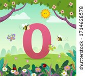 flashcard for kindergarten and...   Shutterstock .eps vector #1714628578