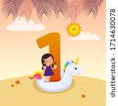 flashcard for kindergarten and... | Shutterstock .eps vector #1714630078