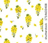 pattern rape flowers  canola.... | Shutterstock .eps vector #1714633408