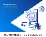 online education on website and ... | Shutterstock .eps vector #1714663798