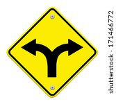 fork in the road sign | Shutterstock . vector #171466772