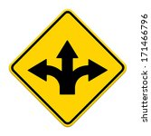 fork in the road sign | Shutterstock . vector #171466796