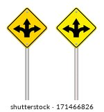 fork in the road sign | Shutterstock . vector #171466826