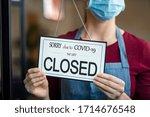 Businesswoman closing her...