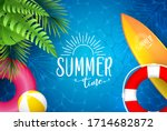 summer sea poster. vector... | Shutterstock .eps vector #1714682872