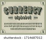 3d retro money alphabet design...   Shutterstock .eps vector #1714687012