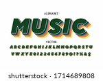 3d modern alphabet font ...   Shutterstock .eps vector #1714689808