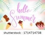 hello summer lettering... | Shutterstock .eps vector #1714714738