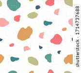 terrazzo seamless pattern.... | Shutterstock .eps vector #1714737688