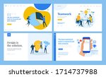 set of flat design web page... | Shutterstock .eps vector #1714737988