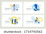 set of flat design web page... | Shutterstock .eps vector #1714743562