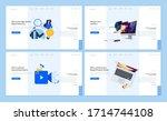 set of flat design web page... | Shutterstock .eps vector #1714744108