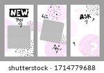 trendy editable template for... | Shutterstock .eps vector #1714779688