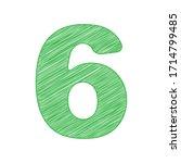 number 6 sign design template... | Shutterstock .eps vector #1714799485
