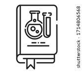 science book black line icon. a ...