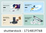 set of flat design web page... | Shutterstock .eps vector #1714819768