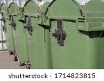 Large Green Garbage Containers...