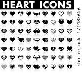 heart icons | Shutterstock .eps vector #171483656