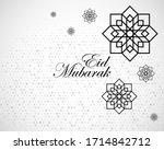 eid mubarak happy iftar... | Shutterstock .eps vector #1714842712