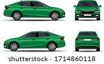 realistic car. sedan. side view ... | Shutterstock .eps vector #1714860118