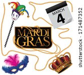 mardi gras design element...   Shutterstock .eps vector #171487352