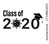 class 2020 graduate school...   Shutterstock .eps vector #1714881652