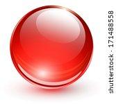3d glass sphere  vector... | Shutterstock .eps vector #171488558