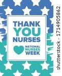national nurses week. thank you ... | Shutterstock .eps vector #1714905862