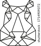 geometric animal  modern... | Shutterstock .eps vector #1714909372