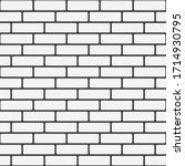 white brick wall seamless... | Shutterstock .eps vector #1714930795