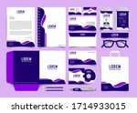 corporate business identity... | Shutterstock .eps vector #1714933015