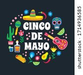 cinco de mayo. greeting card... | Shutterstock .eps vector #1714936585