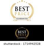 best price guarantee golden...   Shutterstock .eps vector #1714942528