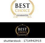best choice guarantee golden... | Shutterstock .eps vector #1714942915