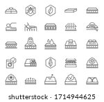 mattress icons. soft latex foam ... | Shutterstock .eps vector #1714944625